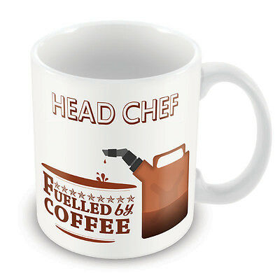 Head Chef FUELLED BY Mug - Coffee Tea Latte Gift Idea novelty office