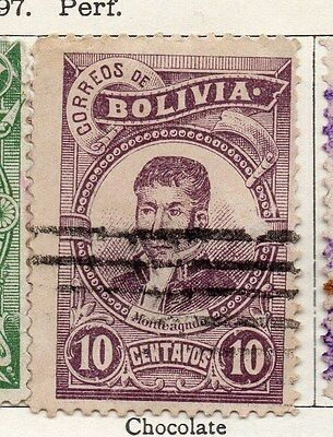 Bolivia 1897 Early Issue Fine Used 10c. 119545