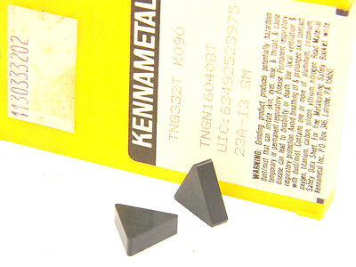 10 New Surplus Kennametal Tng 332-T K090 Ceramic Inserts (Tngn 160408)