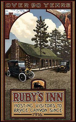 Retro Poster-Bryce Canyon NP-Ruby's Inn With Model T (PAL-1114)