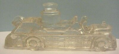 Old Childs Glass Candy Container Fire Truck - Fire Engine
