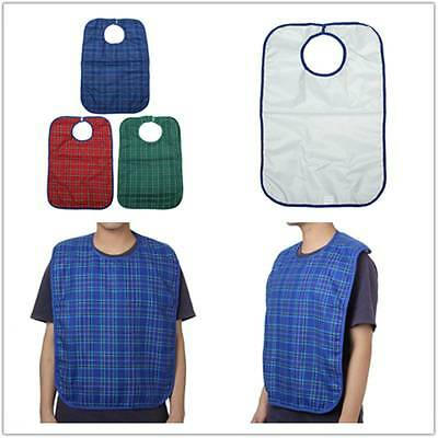 Large Waterproof Adult Mealtime Bib Clothes Protector Dining Cook Kitchen Apron