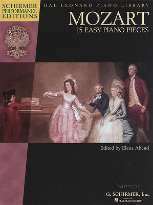 Mozart 15 Easy Piano Pieces Sheet Music Book