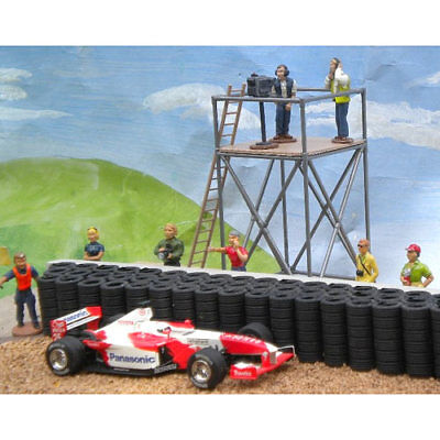 SLOT TRACK SCENICS CT1 Camera Tower & Camera & Crew - for Scalextric