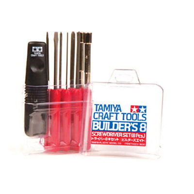 TAMIYA 74023 Builders 8 piece Screwdriver Set - Tools / Accessories