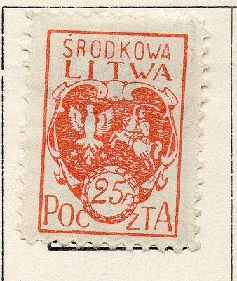 Lithuania 1920-21 Early Issue Fine Mint Hinged 25n. 118593
