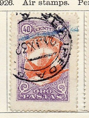Lithuania 1926 Air Stamp Early Issue Fine Used 40c. 118619