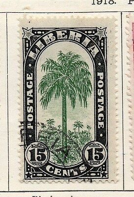 Liberia 1918 Early Issue Fine Used 15c. 118645