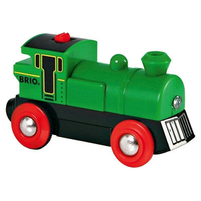 BRIO 33595 Auto Battery Powered Engine Green for Wooden Train Set