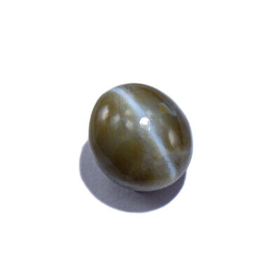 Chrysoberyl Cat's eye, (Rare Size with Distinct Silver Ray) 6.15 Cts (00378)