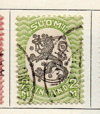 Finland 1918 Early Issue Fine Used 2m. 119678