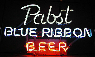 Vintage 1960s Pabst Blue Ribbon Beer Neon Sign