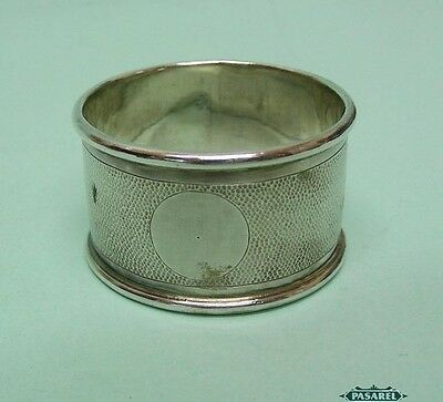 Chinese Export Silver Hammered Napkin Ring By Nanking China Circa 1900