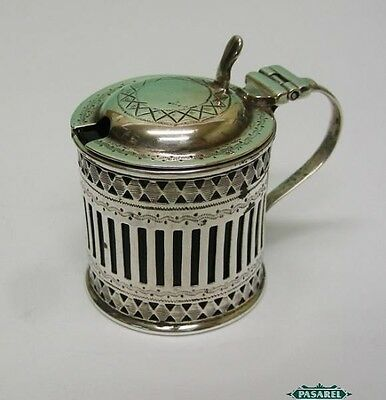 Sterling Silver Mustard Pot By Atkin Brothers Sheffield England 1911