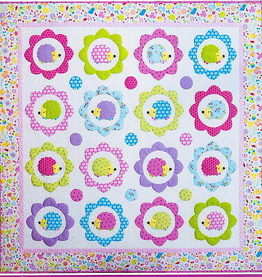 Happy Hedgehogs - cute applique & pieced quilt PATTERN - Melly & Me