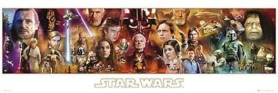STAR WARS COMPLETE CHARACTER COLLAGE DOOR POSTER (53x158cm) MOVIE PICTURE PRINT