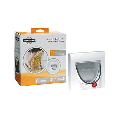 Staywell Cat Flap + Tunnel 4 Way White 917EF