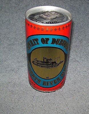Spirit Of Dubuque~Roberts River Rides~Jos. S. Pickett & Sons Inc~Beer Can~Steel