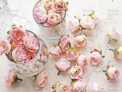 Rose Bud Decorative Synthetic Flowers (Faux Silk) in 30 Colours - Mini Rose Buds