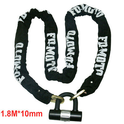 Scooter Motorcycle Motorbike Chain Lock Heavy Duty Chain Disc Lock Security 1.8M