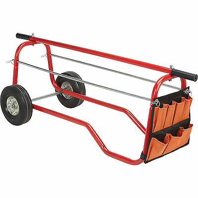 Ironton Wire Caddy Cart with Storage Bag - 330-Lb. Capacity