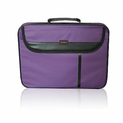 "15.6"" Widescreen Laptop Bag Notebook Carry Case-Shoulder Strap Compatible Purple"