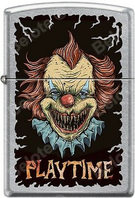 Zippo Killer Clown Playtime Street Chrome WindProof Lighter NEW Rare