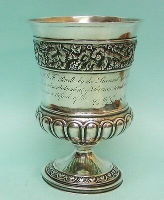George III Sterling Silver Campana Form Cup Goblet London England 1815