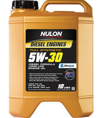 Nulon Diesel Long LIfe Full Synthetic Car Engine Oil 5W-30 10 Litre