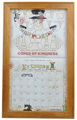 Wooden Timber Teak Finish Calendar Frame Blackboard For Lang or Legacy New