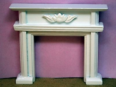 Dolls House Miniature 1/12th Scale White Wooden Fire Surround