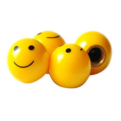 4 x Yellow Happy Smiling Smiley Face Wheel Tyre Valve Stem Caps Covers For Benz