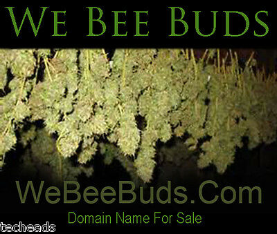 WE BEE BUDS - Cannabis & Marijuana Niche Domain Name for sale: WeBeeBuds.Com