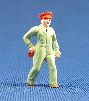 Pewter Railroad Figure People Gas Station Attendant O- S Scale Nos Train Layouts