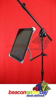 Universal Microphone Mic Stand Clamp Mount Holder for iPad Android Tablet PC