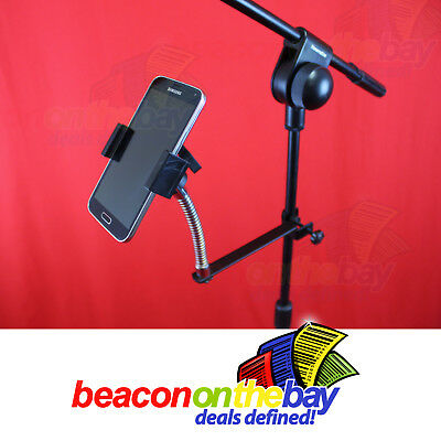 Universal Microphone Mic Stand Mount Holder for Smart Phone iPhone Samsung ++