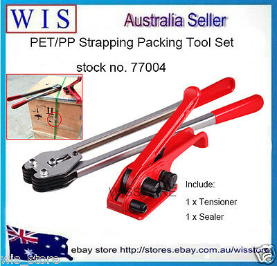PET/PP Manual Strapping Tools Packing Machine Set Heavy Duty Tensioner & Sealer