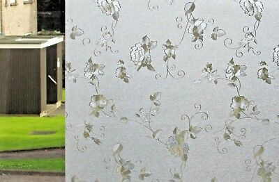 Frosted Etched Glass Window Film Stained Paper Decorative Vinyl Privacy Cling