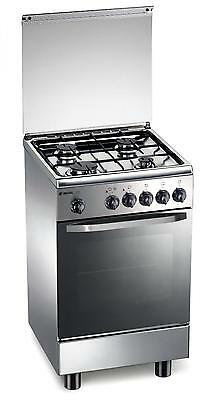 Stainless steel gas cooker 50x50x85 cm 4 burners with gas oven - Regal RC152XS