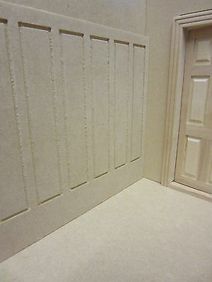 Dolls House 12th scale  Wall Panelling Tall    MDF102