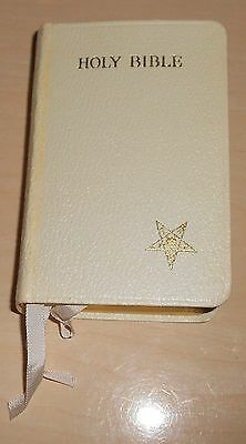 VINTAGE 1935 BOOK THE HOLY BIBLE OLD/NEW TESTAMENT ORDER OF THE EASTERN STAR  y