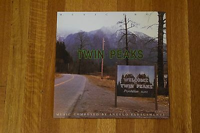 Twin Peaks Soundtrack RARE 1990 2-Sided Store Promo Album Flat Art Poster 12.5""