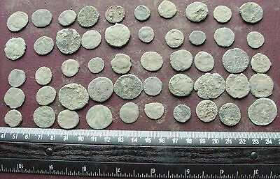Lot of 50 Authentic Ancient Roman Coins   Mostly 3rd to 5th Centuries A.D. 12413