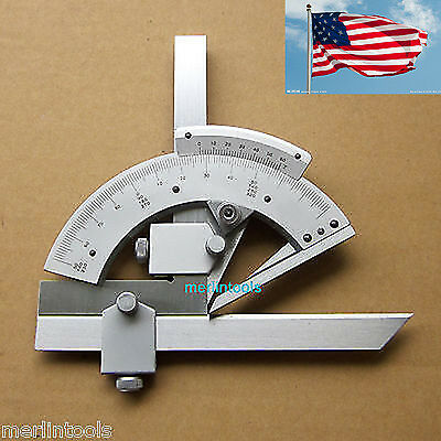 0-320° Precision Angle Measuring Finder Universal Bevel Protractor Tool US
