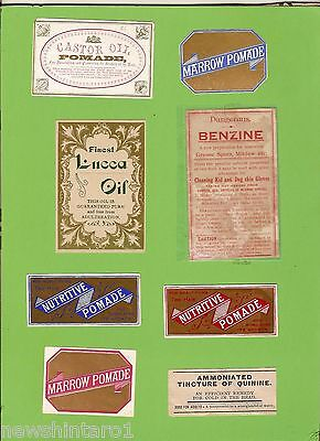 #d60.  Eight  Old  Advertising  Labels