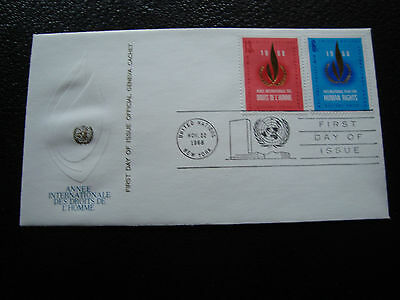 NATIONS-UNIES (new-york) - enveloppe 1er jour 22/11/1968 (cy56) united nations
