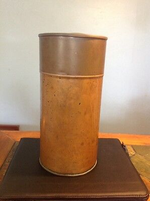 Vintage Copper And Brass Lid Canister
