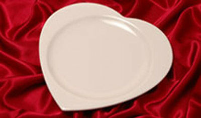 Heart Shaped Dinner Plates Platters (Set of 12) Syracuse China - Home Restaurant