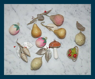 Mixed Lot of  antique Cotton Ornaments - original 1900 / 1920  (# 1686)