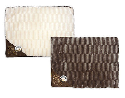 """""""Sweet Dreams"""" Textured Pet Cushion With Faux Leather Motif by World of Pets"""